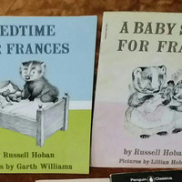 Vintage FRANCES Badger Books BEDTIME for Frances & A Baby SISTER for Frances Childrens Stories 60s Story Book Classic Russell Hoban Ephemera
