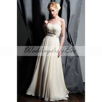 A-line chiffon wedding dress