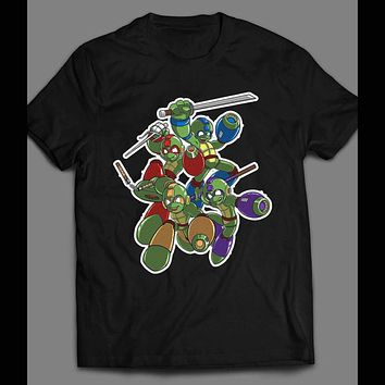 TEENAGE MUTANT NINJA TURTLES MEGA MAN MASH UP SHIRT