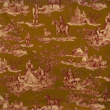 Vervain Fabric 0578906 Cavalier Toile Red On Saddle
