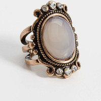 goldtone engraved statement ring | maurices