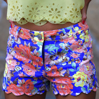 Scalloped And Sweet Shorts: Multi | Hope's