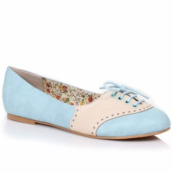 Sky Blue & Cream Retro Halle Oxford Saddle Shoes
