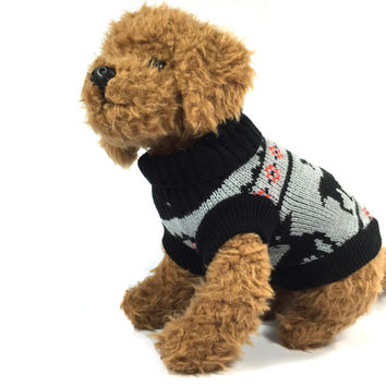 Black Reindeer Dog Sweater