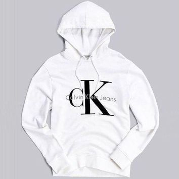 Chenire Calvin klein Long Sleeve Pullover Sweatshirt Top Sweater Hoodie
