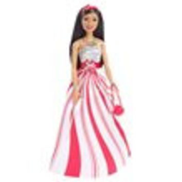 Barbie Candy Cane Holiday African American Doll