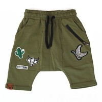 Unisex Khaki OOVY Tribe Shorts | Cool Kids Fashion Trends