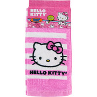 "Hello Kitty Sports Towel 13""x32"" - Pink/White Stripes"