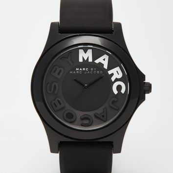 Marc By Marc Jacobs Sloane Silicone Strap Watch MBM4025 at asos.com