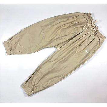 NIKE Fashion New Hook Print Sports Leisure Women Men Pants Khaki