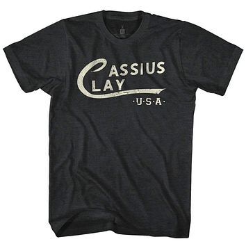 Mens Cassius Clay Logo Retro Tee Shirt