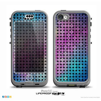 The Vibrant Colored Abstract Cells Skin for the iPhone 5c nüüd LifeProof Case