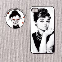 Iphone 4 / 4s Case Cell Phone Cover - Audrey Hepburn Classy 60029