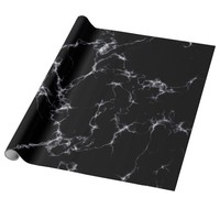 Elegant Marble style4 - Black and White Wrapping Paper