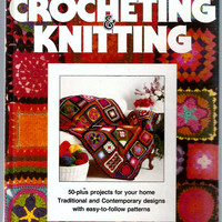 Better Homes And Gardens Crochet And Knitting Patterns  Vintage Hardcover Book