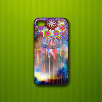 Dream Catcher purple on nebula - Print on hardplastic for iPhone 4/4s and 5 case, Samsung Galaxy S3/S4 case. Select an Option