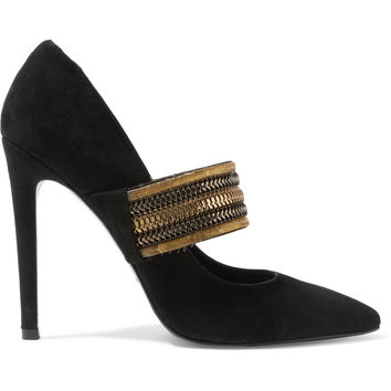 Embellished suede pumps | Pierre Balmain | UK | THE OUTNET