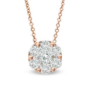 EFFY™ Collection 1 CT. T.W. Composite Diamond Pendant in 14K Rose Gold
