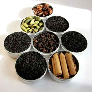 chai tea kit  with recipe and organic spices. a great gift for your favorite tea lover.