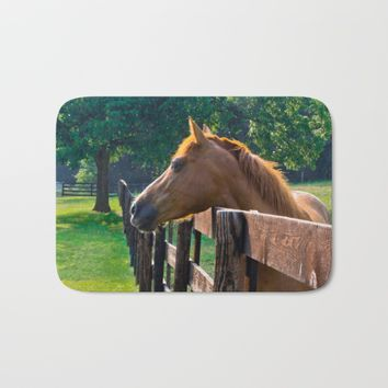 Horsing Around Bath Mat by Scott Hervieux