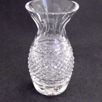 Signed Waterford CUT GLASS vase