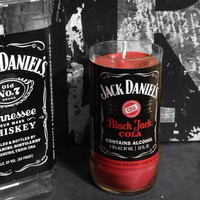 Jack Daniels Beer Bottle Candle