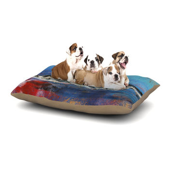 "Josh Serafin ""Sea Leopard"" Blue Shark Dog Bed"