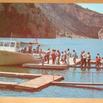 Vintage Excursion Launch On Missouri River Helena Montana Postcard