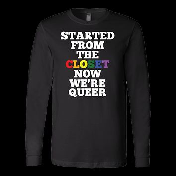 Queer Closet LGBT Rainbow Flag Gay Lesbian Pride Long Sleeve T Shirt - TL00667LS