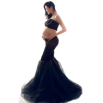 Sexy Pregnant Women Photographic Clothes Maternity Photo Shoot Props Pregnant Women Photography Skirts