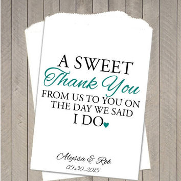10% OFF Sweet Thank You The Day We Say I from TheGalaHouse on