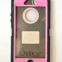 Otterbox Case iPhone 5 Glitter Cute Sparkly Bling Defender Series Custom Case Pink / Black