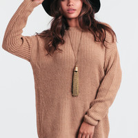 Mocha Crush Oversized Sweater