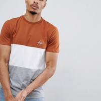 New Look t-shirt with atlanta print in brown at asos.com