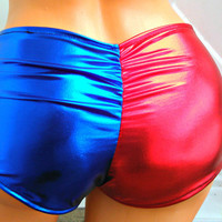 Suicide inspired Harley Quinn costume Cosplay scrunch butt booty shorts