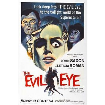 Evil Eye Movie poster Metal Sign Wall Art 8in x 12in