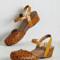 Happy Flower Wedge | Mod Retro Vintage Heels | ModCloth.com