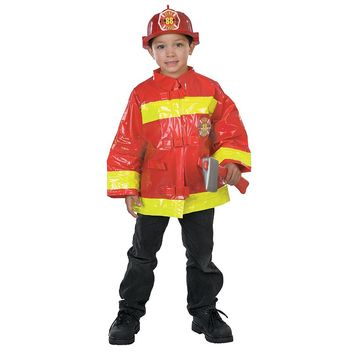 Firefighter Costume - Kids (Red)