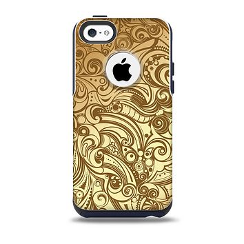 The Vintage Antique Gold Vector Pattern Skin for the iPhone 5c OtterBox Commuter Case
