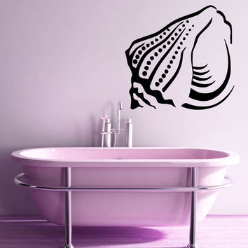 Wall Decals Vinyl Sticker Art Murals Bathroom Decor Seashell Decal Mollusk Kj599