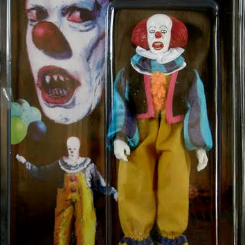Pennywise The Clown 8 Retro Mego Style Figure Limited to 50 Pennywise The Clown 8 Retro Mego Style Figure [061RH05] - $79.99 : Monsters in Motion, Movie, TV Collectibles, Model Hobby Kits, Action Figures, Monsters in Motion