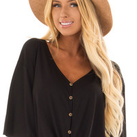 Camel Knitted Velvet Panama Hat with Black Trim