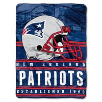 New England Patriots Silk Touch Throw Blanket by Northwest
