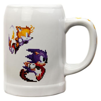 Sonic The Hedgehog - 16 Bit 25oz Ceramic Stein