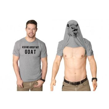 Ask Me About My Goat Flip Shirt | CrazyDog T-shirt