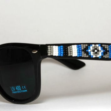 Hand Beaded Sunglasses Wayfarer