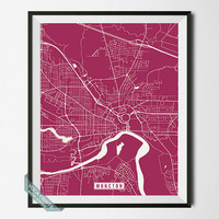 Moncton Print, Canada Poster, Moncton Poster, Moncton Map, Canada Print, New Brunswick Poster, Street Map, Canada Map, Wall Art