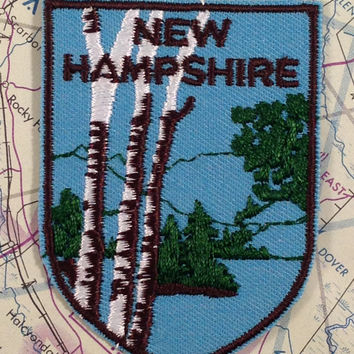 New Hampshire Vintage Travel Patch by Voyager