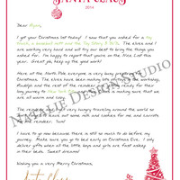 PRINTABLE Letter From Santa Claus Kit with Nice List Certificate - Personalized Unique Christmas Present Parents Grandchildren Gift