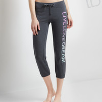 LLD Signature Text Capri Sweatpants